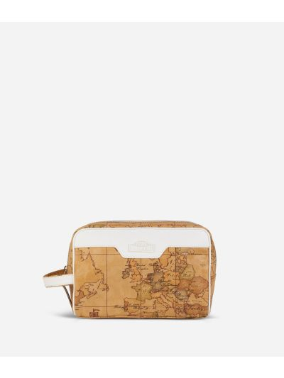 Donnavventura Beauty-case with Geo Classic print White