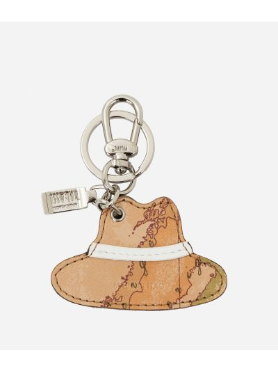 Donnavventura Keychain with Geo Classic print White