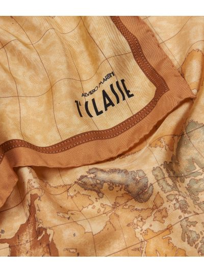 Geo Classic print foulard 70 x 70 Orange