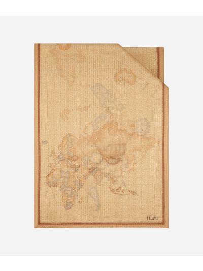 Geo Riga Lurex print stole 65 x 190 Beige