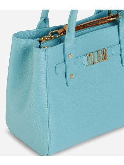 Voyage Smile Small Handbag Light Blue