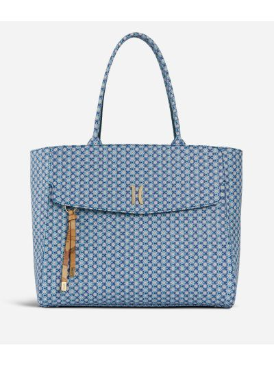 Mosaic Big Shopping Bag Blue