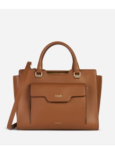 Marrakech Handbag in smooth leather Brown