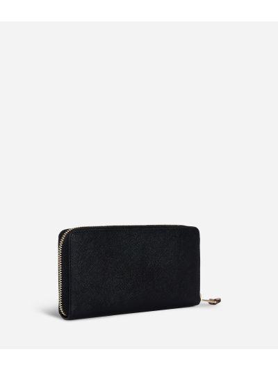Medina City Zip-around Wallet Black