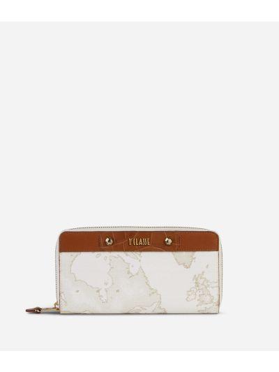 Charme Geo White Zip-around Wallet White