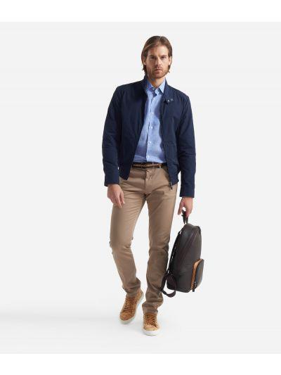 Bomber jacket in cotton blend Blue
