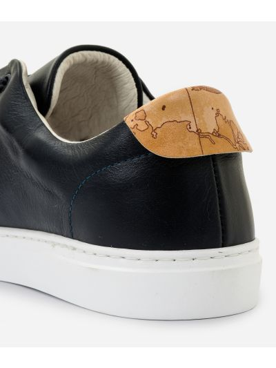 Sneaker in smooth cowhide leather Blue