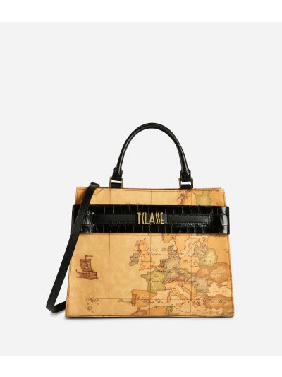 Stylish Bag Borsa a mano in tessuto Geo Classic Nera