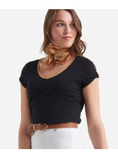 Jersey t-shirt Black