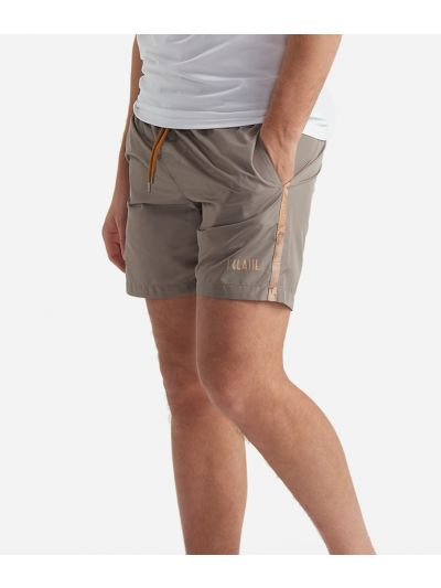Swim trunks with Geo Classic details Brown