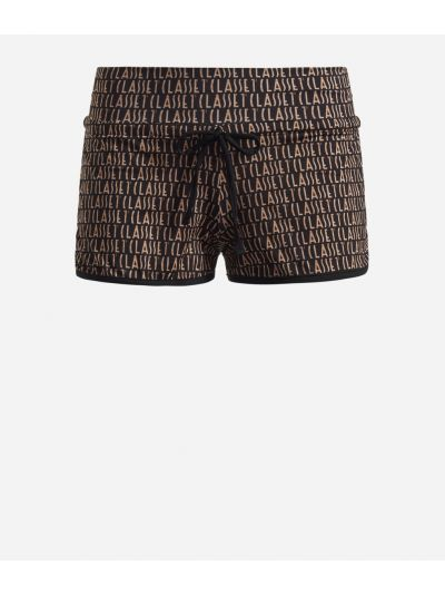 Lycra shorts with Logomania print Black