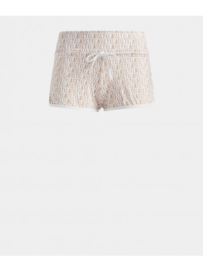Shorts in lycra with Logomania print White