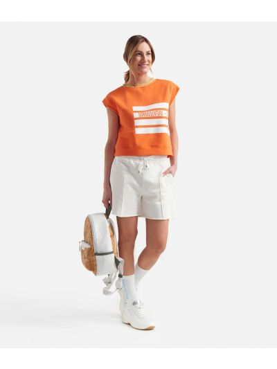 Donnavventura Bermuda shorts in fleece White