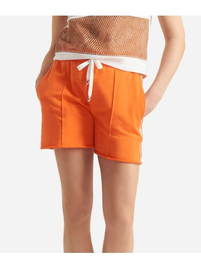 Donnavventura Bermuda shorts in fleece Orange