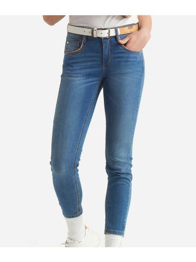 Donnavventura 5-pockets pants in denim Blue