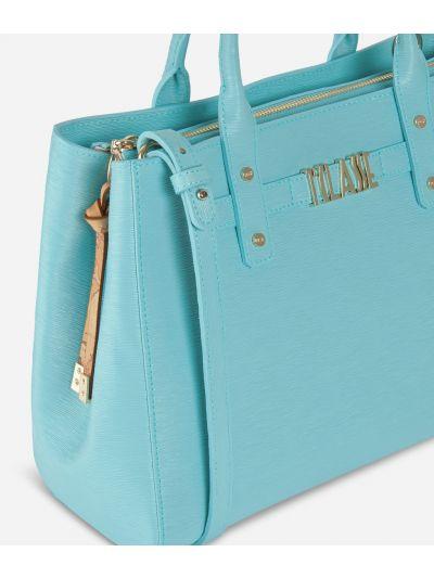 Voyage Smile Medium Handbag Light Blue