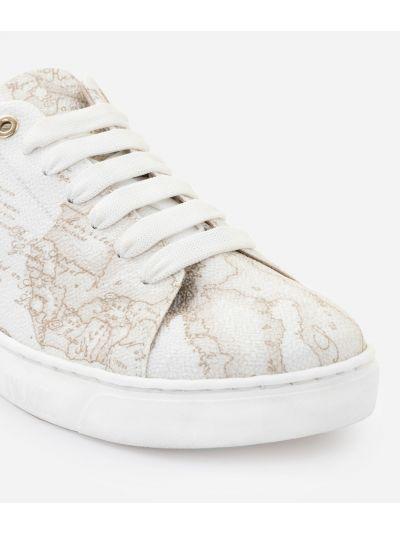 Sneakers in tessuto Geo White