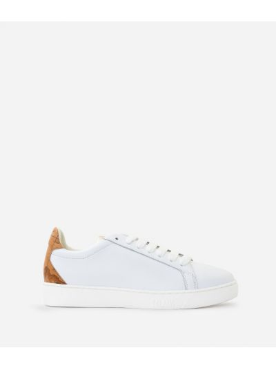 Sneaker in smooth cowhide leather White