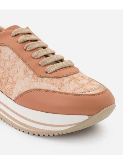 Sneaker in Geo Pesca print fabric