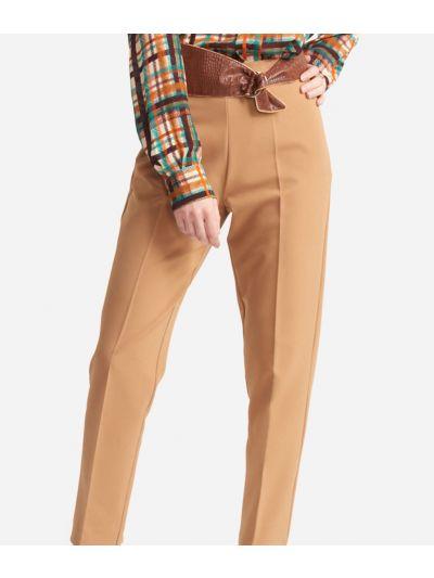 Pantalone a sigaretta in cavallery stretch Beige